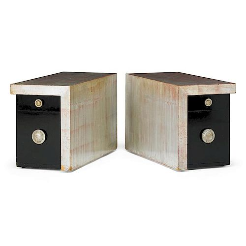 JAMES MONT Pair of side tables