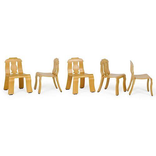 ROBERT VENTURI Five Empire side chairs