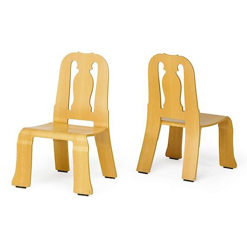 ROBERT VENTURI Pair of Queen Anne chairs