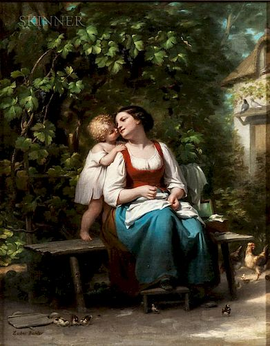 Fritz Zuber-Buhler (Swiss, 1822-1896)  Mother's Darling