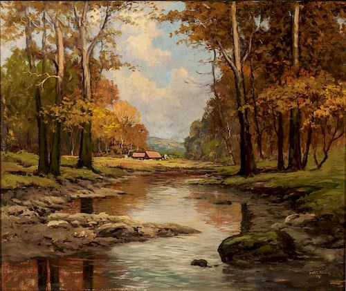 Robert William Wood (American, 1889-1979)  Autumn Pond
