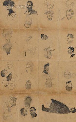 Edward Hopper (American, 1882-1967)  A Double-sided Study