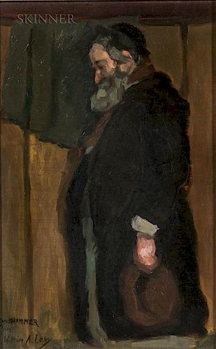 William Auerbach-Levy (Russian/American, 1889-1964)  Portrait of a Rabbi