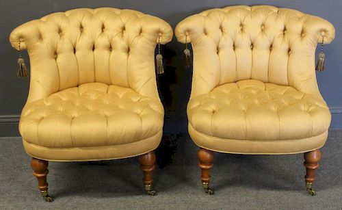 Strange Baker Pair Of Upholstered Club Chairs By Clarke Auction Ibusinesslaw Wood Chair Design Ideas Ibusinesslaworg