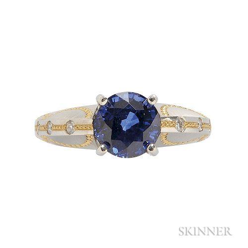 Sapphire and Diamond Ring, David Zoltan