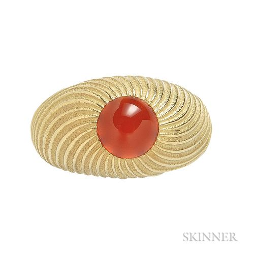 18kt Gold and Carnelian Ring, Schlumberger Studios for Tiffany & Co.