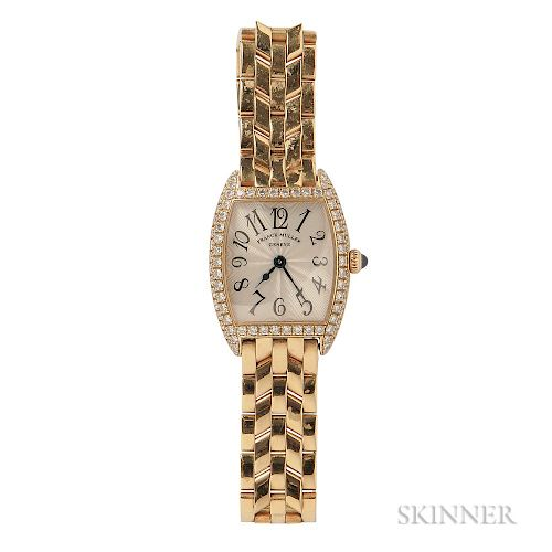Lady's 18kt Gold and Diamond Wristwatch, Franck Muller