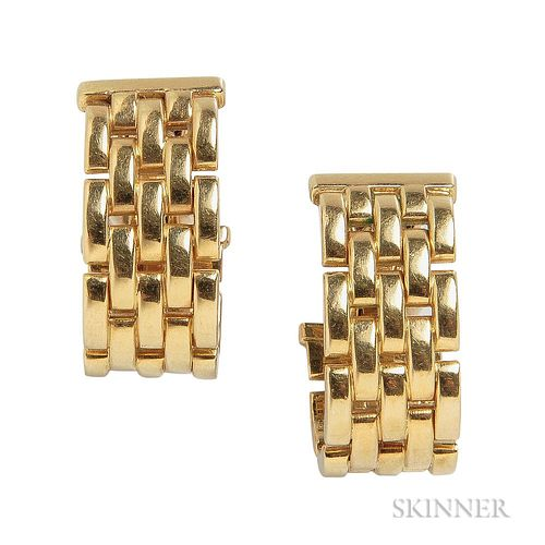 "18kt Gold ""Panthere"" Earrings, Cartier"