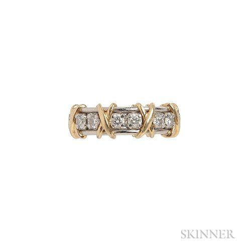 "18kt Gold, Platinum, and Diamond ""Sixteen Stone"" Ring, Schlumberger Studios, Tiffany & Co."