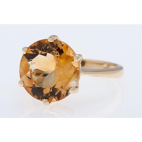 14 Karat Yellow Gold Six Prong Ring
