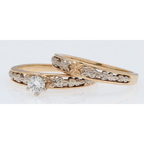 Orange Blossom 18 Karat Gold Wedding Set