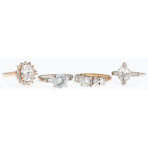 Karat Gold Diamond Simulant Rings