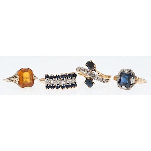 Karat Gold Gemstone Rings