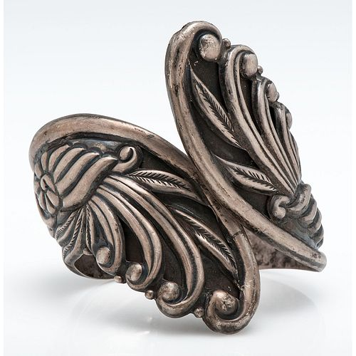Sterling Silver Vintage Mexican Clamper Bracelet