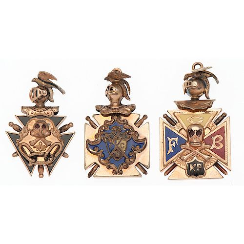 Gold Filled Fraternal Watch Fobs