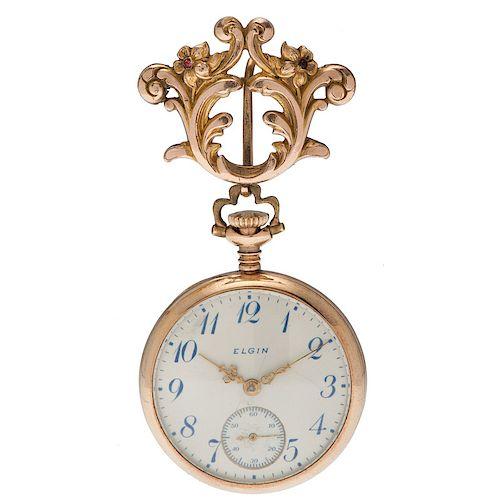 Elgin 14 Karat Yellow Gold Open Face Pocket Watch Ca. 1912