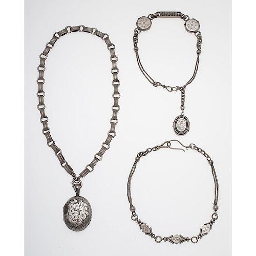 Victorian Silver Locket PLUS