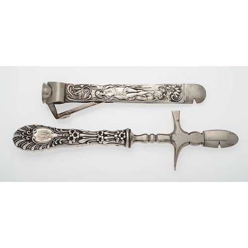 Cigar Accessories with Sterling Silver Handles