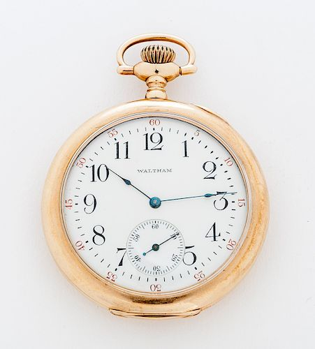 14K Waltham Riverside Presentation Pocket Watch