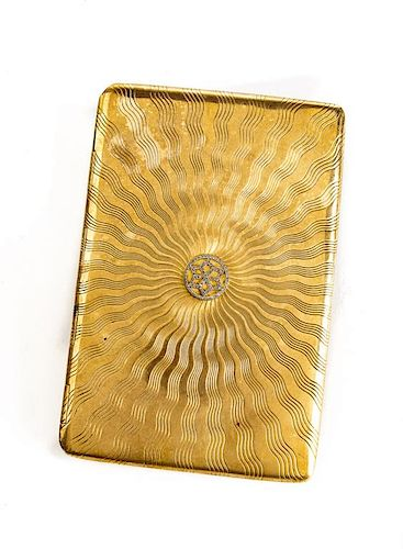 18K Diamond Cigarette Case
