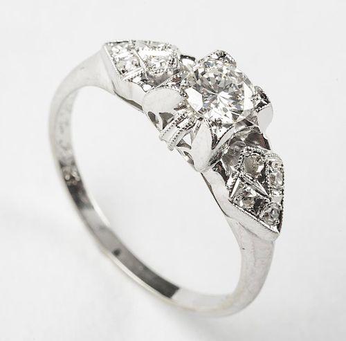 18K .46 CTW Diamond Ring