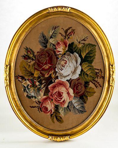 Needlepoint & Beadwork of Flowers
