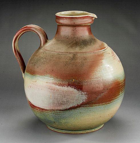 Large Swiss Rheinfelden Folk Art Pottery Jug
