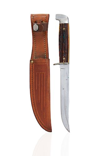 Bardzo dobry Case XX 1965-69 Stag 516-5 Fixed Blade Sheath Knife by Witherell's JB19