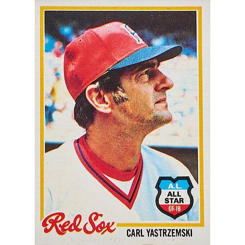 Collection Of Carl Yastrzemski Baseball Cards By Rago