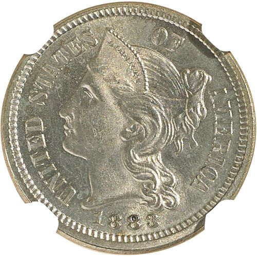 U.S. 1883 PROOF NICKEL 3C COIN