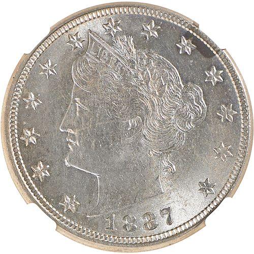 U.S. 1887 LIBERTY 5C COIN