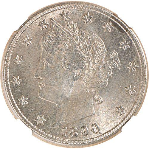 U.S. 1890 LIBERTY 5C COIN