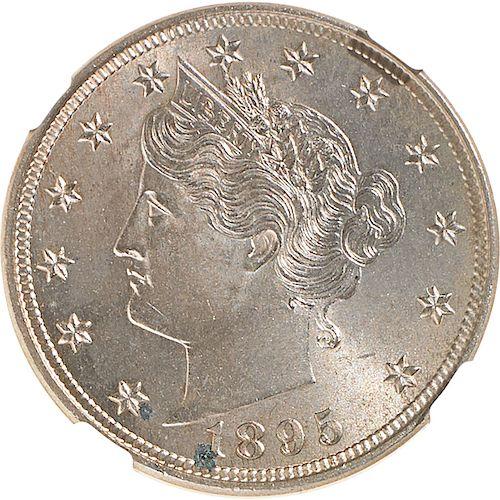 U.S. 1895 LIBERTY 5C COIN