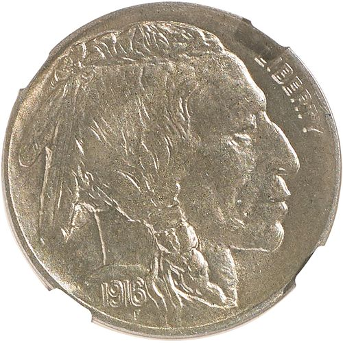 U.S. 1916-D BUFFALO 5C COIN
