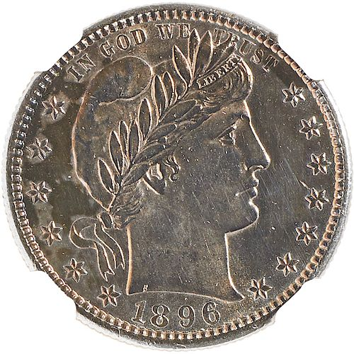 U.S. 1896-S BARBER 25C COIN