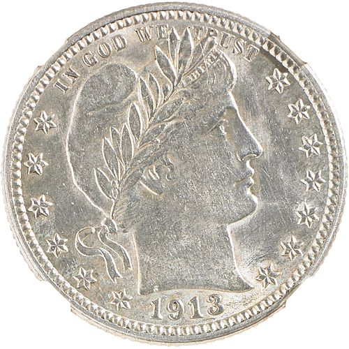 U.S. 1913 BARBER 25C COIN
