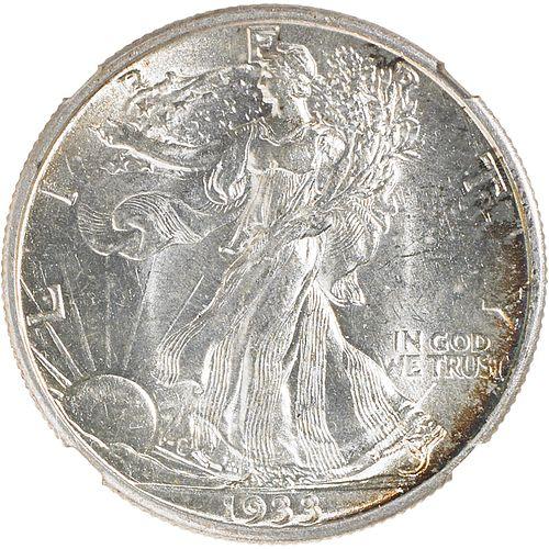 U.S. 1933-S WALKING LIBERTY 50C COIN