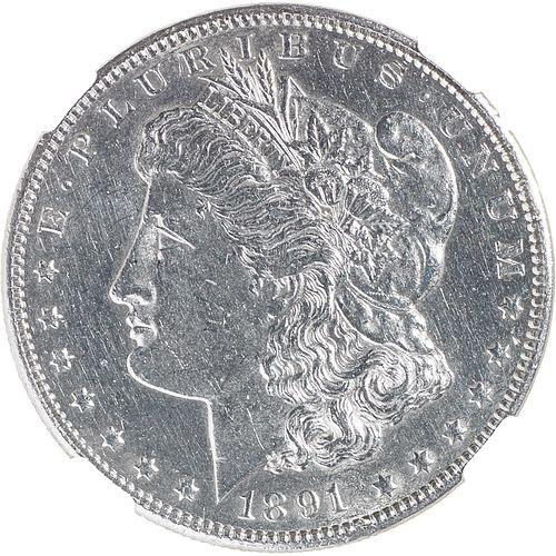 U.S. 1891-CC MORGAN $1 COIN