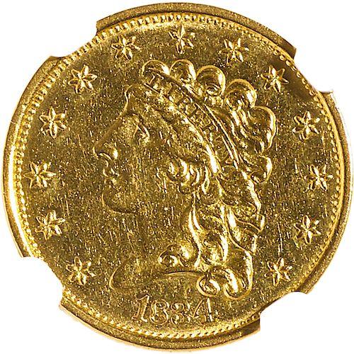 U.S. 1834 CLASSIC HEAD $2.5 GOLD COIN