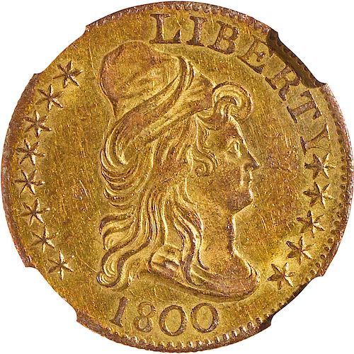 U.S. 1800 DRAPED BUST $5 GOLD COIN