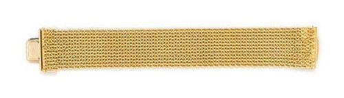 An 18 Karat Yellow Gold Meshwork Bracelet, 51.00 dwts.