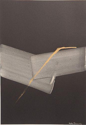 "Toko Shinoda (b. 1913)  mixed media on paper  untitled  signed lower right: Toko Shinoda  having original ""Collection of David Rocke..."