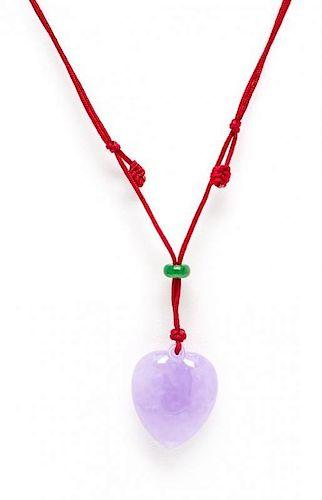 A Lavender Jade Pendant,