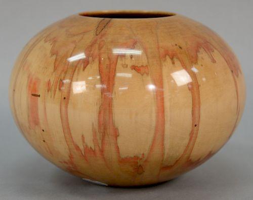Philip Moulthrop (b. 1947), large turned bowl/vase, ash leaf maple Acer Negundo, written on bottom: David Rockefeller - June 12, 200...