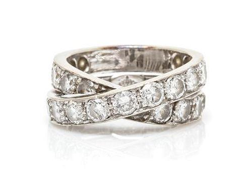 A Platinum and Diamond Ring, Matassi, 5.85 dwts.