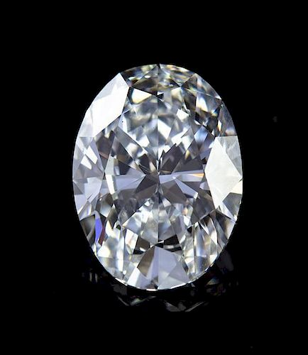 A Fine 4.01 Carat Oval Brilliant Cut Diamond,