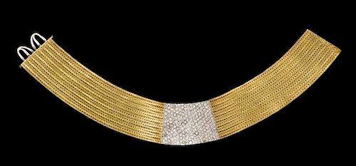 An 18 Karat Gold and Diamond Collar Necklace, Mario Buccellati, 158.20 dwts.