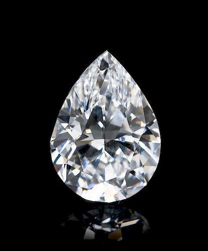 A 3.01 Carat Pear Shape Brilliant Cut Diamond,