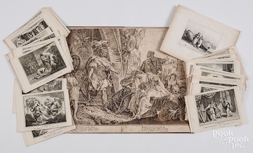 Collection of Dutch 18th c. biblical engravings