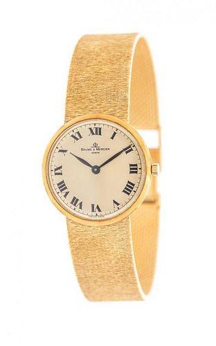 An 18 Karat Yellow Gold Dresswatch, Baume & Mercier, 36.00 dwts.